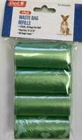 3x4 Pack Waste Bag Refills 12 Rolls 20 bags each Total 240 Bags Color may Vary