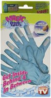 Magic Bristle Cleaning Gloves by TRM Magic Bristle Cleaning Gloves Two Pair