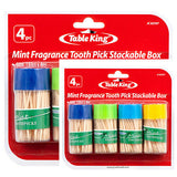 Table King Toothpick Mint Fragrance 150ct X 4pk Wholesale, (2- Pack)
