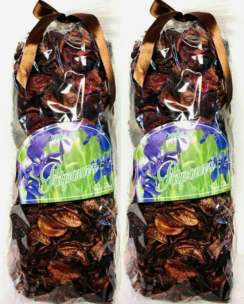 2 Bag Violet Potpourri Purple Dried Flower 7.5 OZ Bag Size: 10'' x 5'' x 4''