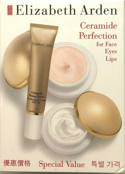 Elizabeth Arden Ceramide Perfection for Face Eyes Lips Special Value New in Box
