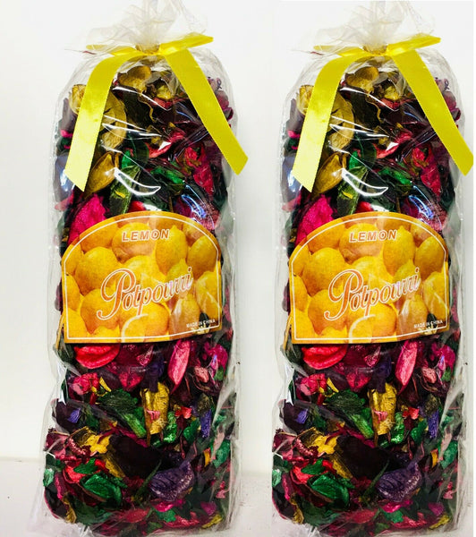 2 Pack Lemon Potpourri Multicolor Dried Flower 7.5 OZ Bag Size: 10'' x 5'' x 4''