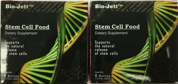 Stem Cell Food dietary supplement 2 PACK, 12 bottles by Bio Jett Cell Food.