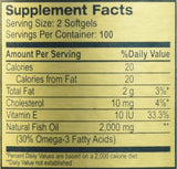 Golden Alaska Deep Sea Fish Oil Omega-3, 1000 Mg, 200 Capsules Pack of 2 by NCB