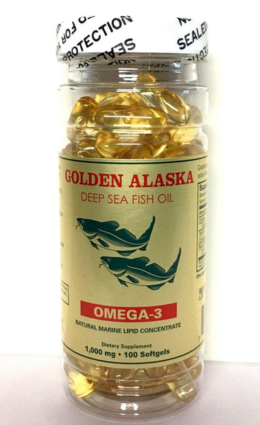 Golden Alaska Deep Sea Fish Oil Omega-3, 1000 Mg, 100 Capsules by Nu-Health