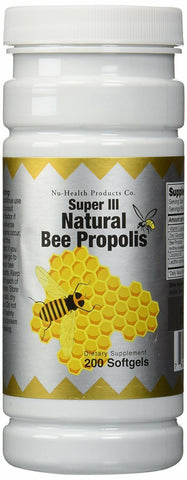 Natural Bee Propolis, 200 softgels by Nu-Health. Exp 01/2022 with Vitamin C,