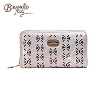 BRANGIO Italy Wallet Butterfly Twinkle Star 3D Floral Cut Crystal Wallet 100% Vegan leather US Patented JAW8803 Series