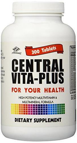 NCB Central Vita-Plus, High Potency Multivitamins & Multimineral 300 Tablets