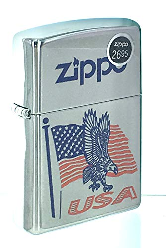 Genuine Zippo Windproof Lighter Falg Eagle USA Zippo Lighter Laser Lettering Pattern Sealed Made in USA, US Free Ship Super Fast