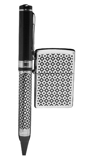 Zippo Gift Set Black Diamond Lighter/Pen