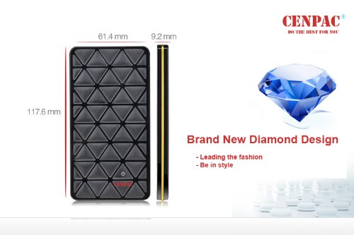 Charge Power Bank Cenpac Diamond-x Ultra-Compact Portable Charger USB Backup External Battery Pack Portable Power Bank