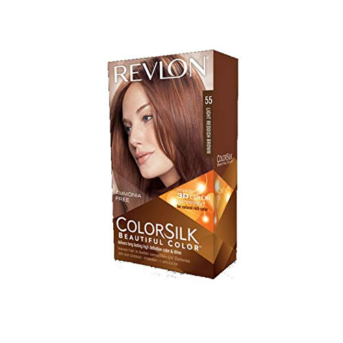 Revlon U-HC-2442 ColorSilk Beautiful Color No.55 Light Reddish Brown - 1 Application - Hair Color