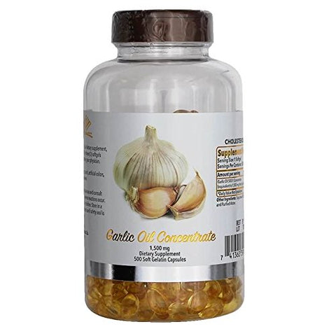 Nu-Health Garlic Oil Concentrate, 1500 Mg 500 Softgels