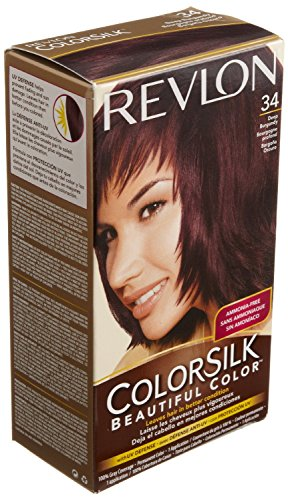 Revlon Colorsilk Haircolor 34, Deep Burgundy - 1 Ea, Pack of 4