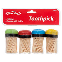 Wholesale TABLE KING TOOTHPICK 4CT W/150PCS EACH