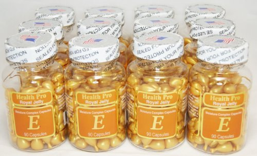 Nu-Health Royal Jelly Vitamin E Moisture Complex (90 Capsules) - 12 Pack