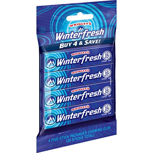4 Pack Wrigley's Winterfresh Gum (5-Piece each)