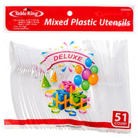 Wholesale TABLE KING PLASTIC CUTLERY COMBO 51CT