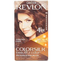 Revlon Colorsilk Beautiful Color, Medium Golden Chestnut Brown [46] 1 ea(Pack of 6)