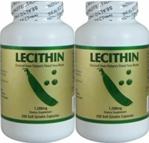 NCB Lecithin1200mg 200 Softgels anti-oxidant , Lecithin pack of 2, Exp 06/2022