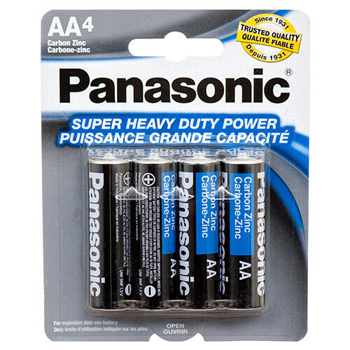 1Pk AA Batteries Battery Panasonic Super Heavy Duty Power Total 4 Batteries