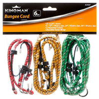 "6 Bungee Cord 12"" 24"" 36"" inch Heavy Duty Straps total 12 Hooks Tie Down Set"