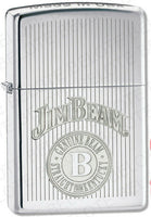 Zippo Jim Beam High Polish Chrome Windproof Lighter 28190 NEW in Box