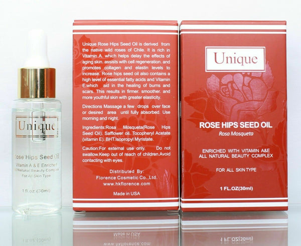 Rose Hips Seed Oil 1 OZ Enriched with Vitamin A&E 3 Pack Rose Hips Seed Oil USA.