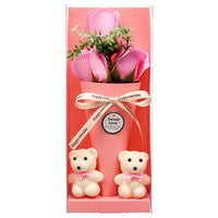 Hv Valentine Rose 3H W / Bear Valentine Gift Box Valentine Rose Bear Gift Box