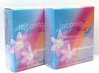 INCANTO SHINE BY SALVATORE FERRAGAMO EDT SPRAY WOMEN 1OZ Made in Italy 2 Pack.