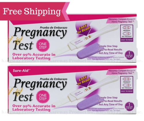 Sure-aid pregnancy test - Fast Result pregnancy test 4 Pack Easy to Read