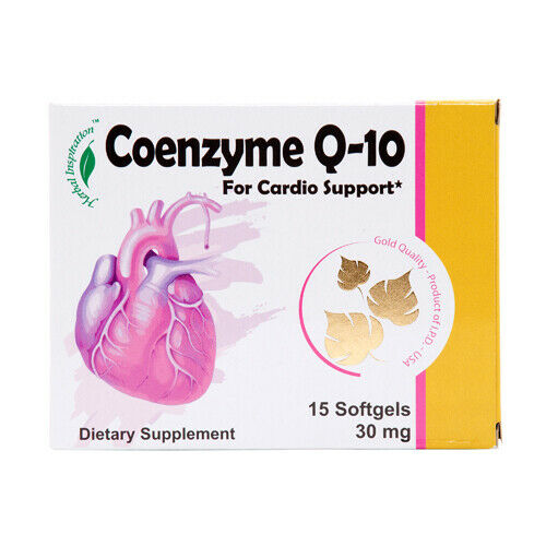 Coenzyme Q-10 15ct Cardio Support herbal Inspiration *2y Wholesale, (2 - Pack)