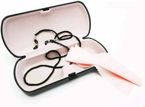 Eyeglass Storage Set, Case, Cloth and Cord, Convenience and keep Eyeglass Clear
