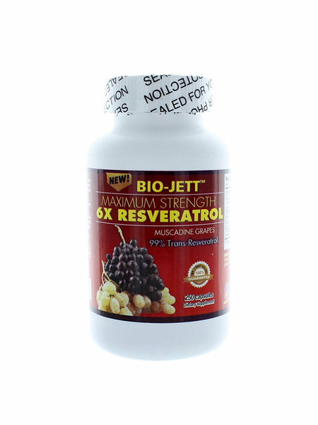 Resveratrol Maximum Strength 6X Resveratrol 250 capsules Exp 10/2022