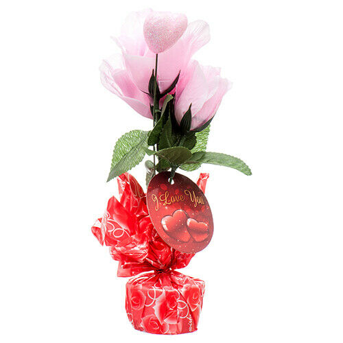 Valentine Rose & Heart Stand (36-Pack) Valentine Cheap Wholesale Rose bouquest