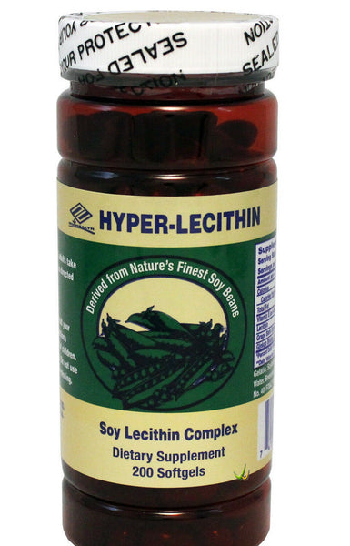 Hyper Lecithin +Ginkgo+OPC+Vitamin E 618mg 200 Softgels, FRESH, FAST SHIPPING