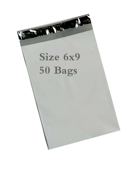 White Poly Mailer Self Sealing Shipping Envelopes Bags Size 6''x 9''-50 Bags