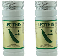 NCB Lecithin 1200 Mg - 100 Soft Gelatin Capsules Lecithin pack of 2 Exp: 12/2020