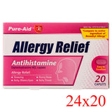 Pure-Aid Medicine Allergy Relief 12 Tablets/Pack (24-Pack) Pharmacy Cheap