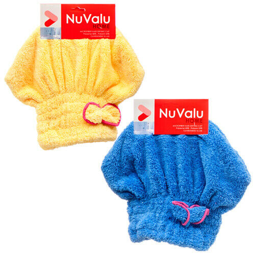 Nuvalu Microfiber Hair Drying Cap W / Asst Clrs (2-Pack) Bath Cheap