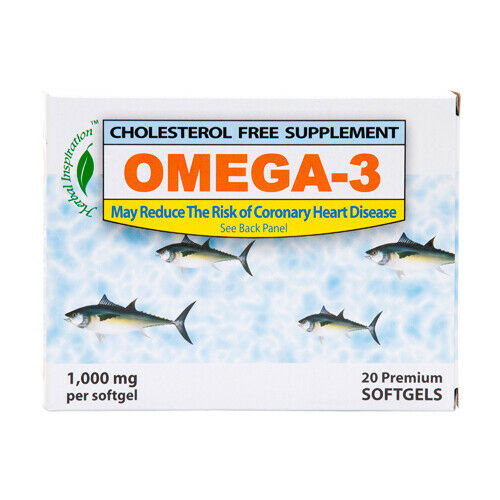 Herbal Inspiration Omega-3 8x20 Softgels Reduce The Risk of Heart Disease 1000mg