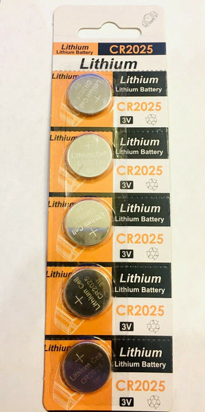 5 pcs CR2025 Lithium BUTTON BATTERY 3 Volts Power Cell Coin Watch Batteries EL43