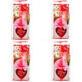 Hv Valentine Deco Bear & Nylon Rose (4-Pack) Valentine Cheap