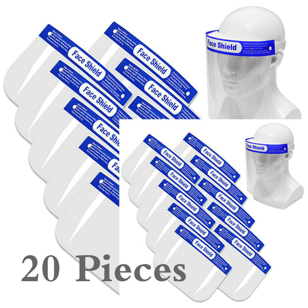 Face Shield Reusable Protection Full Cover Face Mask Anti-Splash NEW 20 Pieces
