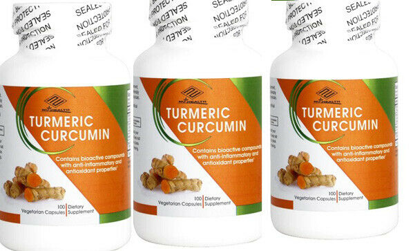 Turmeric Curcumin Highest Potency 95% with Bioperine Black Pepper Extract 3 Pack