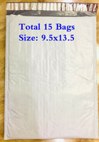Padded Envelope Bag Polyethylene Mailers Bubble Bags 9.5''x13.5'' Total 15 Bags