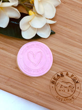 "Load image into Gallery viewer, ""Handmade With Love - Heart"" Raised Stamp"