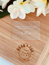 "Load image into Gallery viewer, ""Ther is no greater love....."" rectangle stamp & cutter"