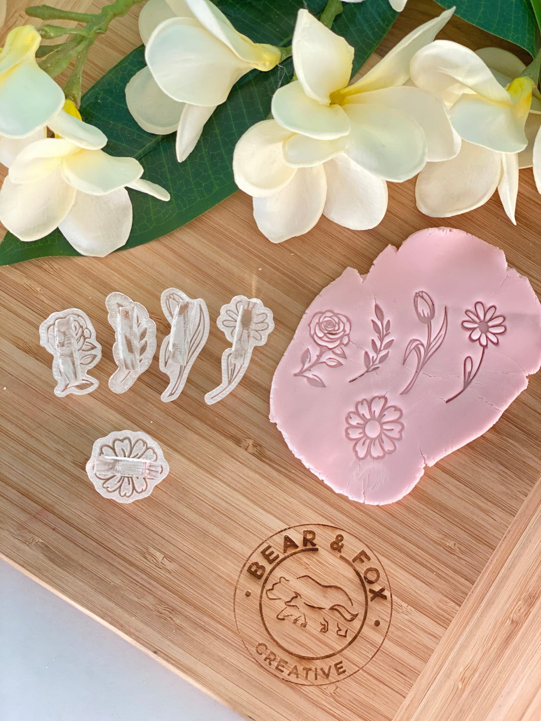 Small Flower accent impress stamp Kit