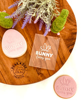 "Load image into Gallery viewer, ""Some Bunny Loves You"" Raised Stamp"